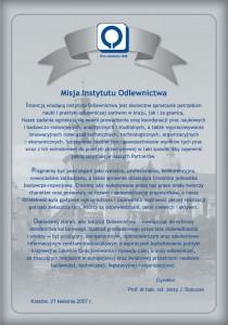 Misja Instytutu Odlewnictwa